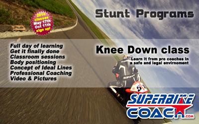 Superbike-Coach Knee Down classes