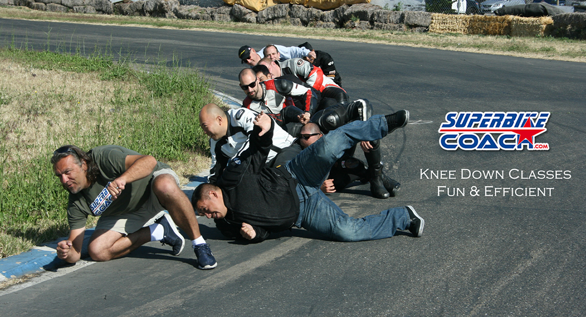 Superbike Coach knee down classes are fun and efficient
