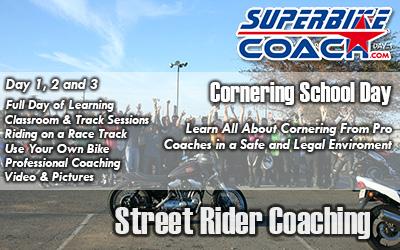 Superbike Coach cornering school day
