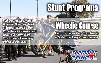 Superbike Coach wheelie course