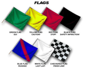 Superbike-Coach track flags