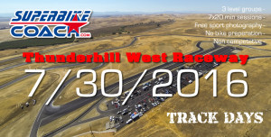 Superbike-Coach track day on 7-30-2016